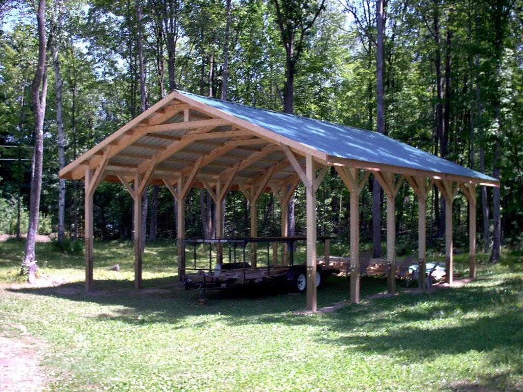 Delightful Post Beam Home Designs #2: 24by30_Carport 207